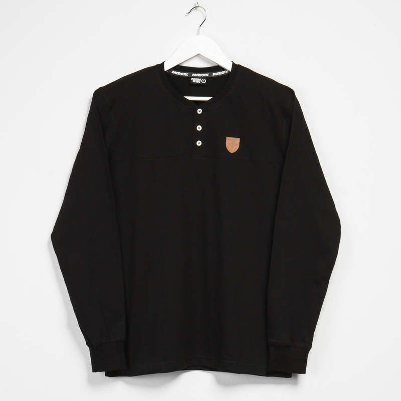 męski longsleeve koszulka czarna